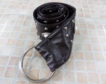Vintage Studded Pu Leather Dress Belt AR525