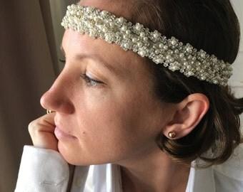 Express Shipping/ Rhinestones headband, pearl headpiece,Bridal headband Wedding headband, bridal accessories, weddings headpiece