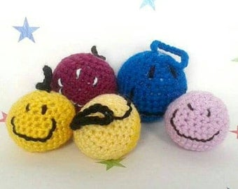 Catnip toys, smiley balls, gift for cats, cat toy, crazy cat lady, kitten toys, filled toy, stuffed toy, animal lover gift, pet toy