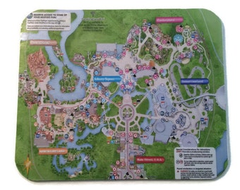 Disney Mousepad Magic Kingdom Park Map
