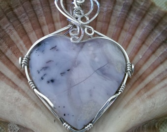 Sterling Silver & Sowbellly Amethyst Heart Pendant