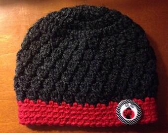 Crochet Ladybug Baby Hat