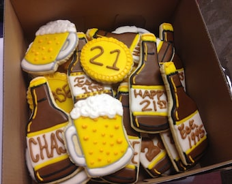 Beer theme Decorated Cookies