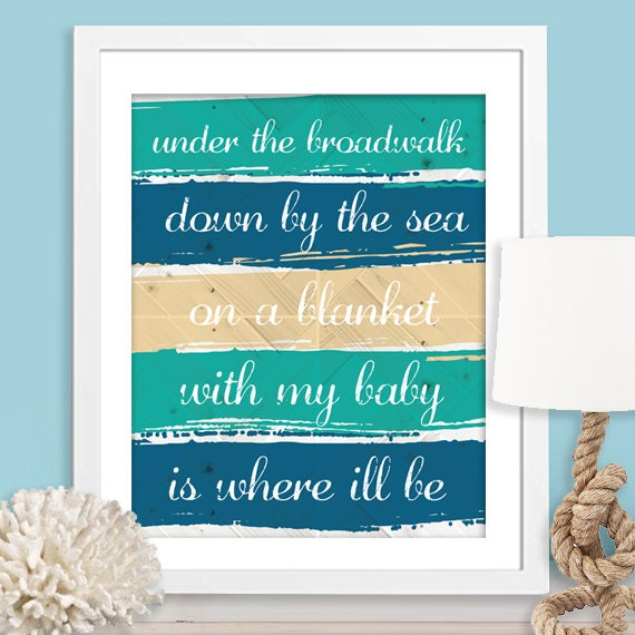 Under The Broadwalk Down By The Sea Lyrics The By NulookDesign