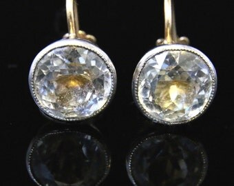Antique Victorian Paste Earrings - Screw Fitting Circa 1860