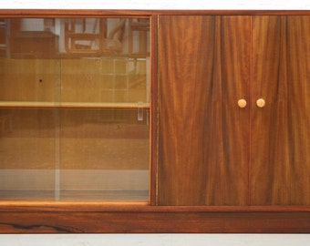 Mid-Century Retro Walnut Display/Bookcase by Morris of Glasgow