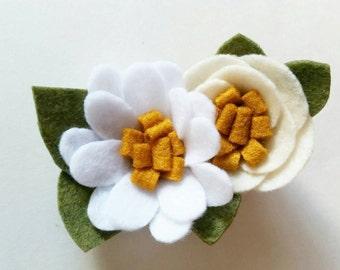 Daisy Hair Clip | Felt Flower Clip