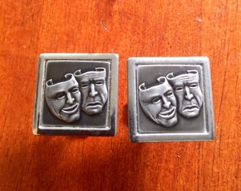 Theater Comedy Tragedy Cuff Links