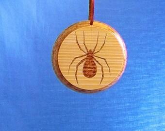 Spider woodburning, spiderweb wood art, shadow spider on web, creepy Halloween