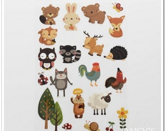 TheFabriqBoutique-Vinyl Iron On Heat Transfer Vinyl Forest Animals