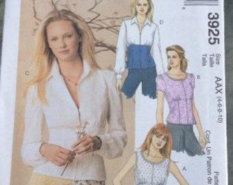 Feminine summer top sewing pattern