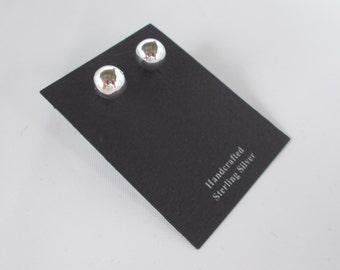 Ball Earrings 925 Sterling Silver Stud Post Earrings 8mm