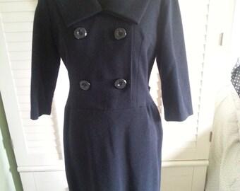 1960's black dress, vintage black dress, 1960's clothing, 1960's dress