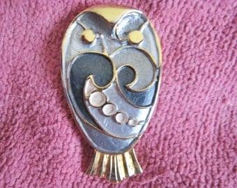 Enamel Owl Pin
