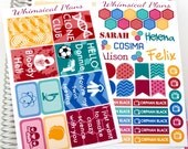 Orphan Black Inspired Mini Kit - 59 Planner Stickers (Perfect for Erin Condren Life Planners)