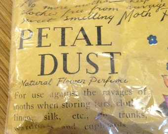 Vintage Petal Dust Moth Repellant - unused and still sealed in the packet.