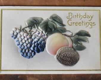 Vintage Birthday Greetings Postcard - Vintage Postcard