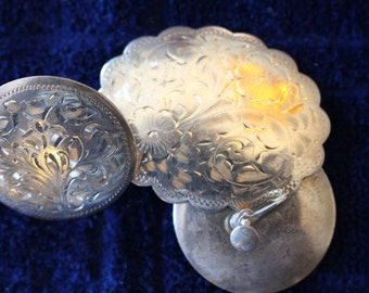 Vintage Sterling Silver Hallmarked Brooch and Earrings