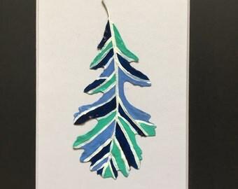 8x10 Oak leaf (blues)