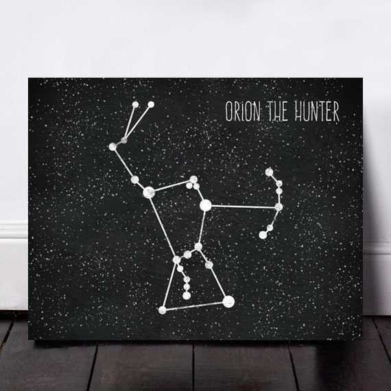 Orion Constellation Print Orion Astronomy Print by ...  Orion Constella...