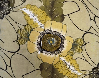 """Cotton Cambric Fabric 42"""" Wide Brown Color Floral Printed Craft Apparel Drape Dess Making Sewing Material Fabric By 1 Yard ZBC3842"""