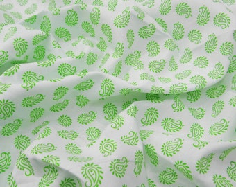 """Indian Pure Cotton Paisley Print Fabric 58"""" Wide Sewing Supplies Apparel Dress Making Apparel Upholstery Pure Cotton Fabric By 1 Yd ZBC7397C"""