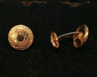 Gold-tone Edwardian Cuff Links - CA 1930's - Item #75
