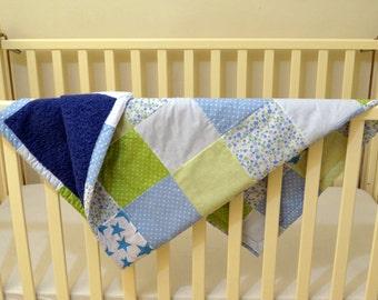 Patchwork Quilt. Baby Quilt. Toddler Quilt. Baby Blanket