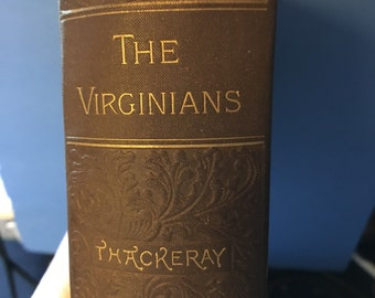 Vintage history book William Thackeray The Virginians 20 value for 15USD FREE ship