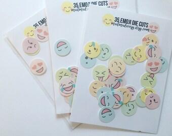 Emoji Die Cuts: paper ephemera