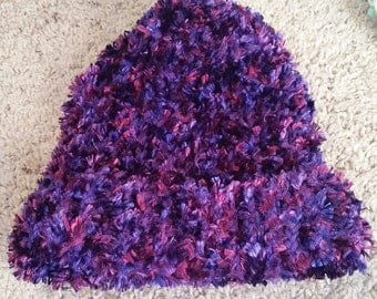 Purple and Pink fuzzy hat