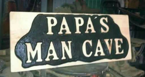 Man Cave Gifts Uk : Man cave gifts for dad grandpa wood carved signs