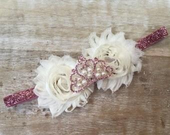 Pretty in Pink Princess Tiara Headband