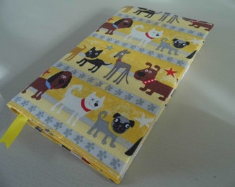 What Doggie ? Handmade Fabric Book Cover