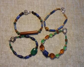 Denim Blue & Earthtone Bracelet