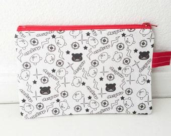 Danganronpa monokuma cute school zipper Pencil Case, Cosmetic Bag