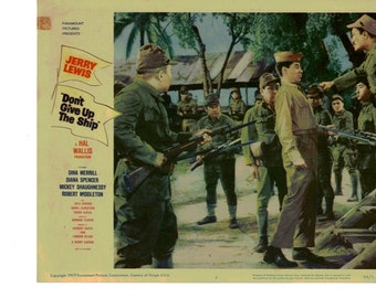 Don't Give Up The Ship - 1959 US lobby Card No 3 - Jerry Lewis