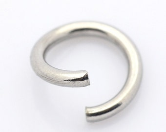 Thick Jump Rings Stainless Steel - Multiple Sizes - Heavy Duty - Jump Rings  5 mm, 6 mm, 8 mm, 10 mm - Open Jump Rings - Stainless Steel