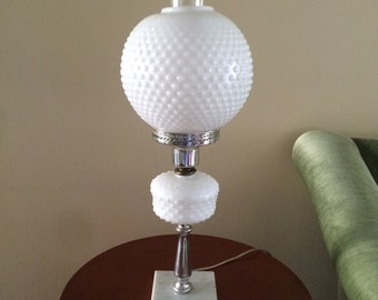 Hobnail Milk Glass Parlor Lamp