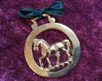 Vintage Horse Brass with Horse Design