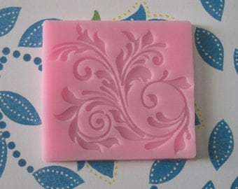 Vine Silicone Molds -  2 1/4 inch X 2 3/4 inch - Silicone Mold-  Food Safe Molds - Fondant Molds - Cake Decorating Molds - Moulds