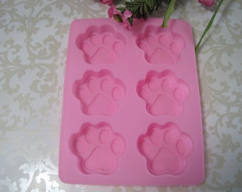 Paw Silicone Molds -  Flexible Molds - Cake Decorating Molds - Food Safe Molds - Chocolate Molds - Fondant Molds - Silicone Molds