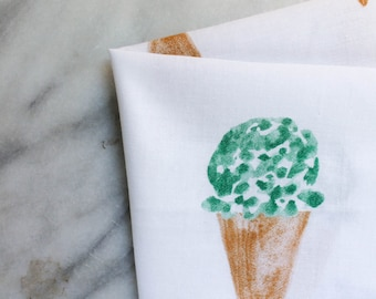 pack of two ice cream towels
