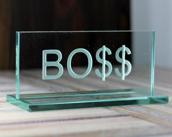 Glass Nameplate Made To Order