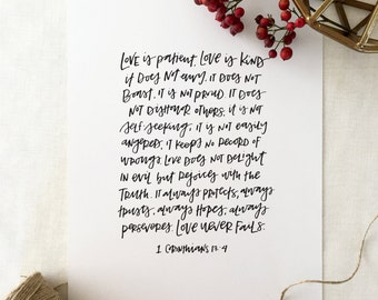 Handlettered 'Love Is...' Print