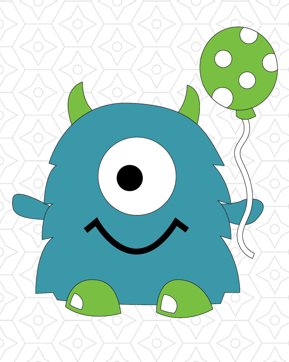 birthday monster vector design svg dxf and ai vector files