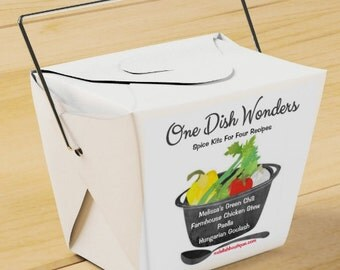"""Take-Out Gift Set """"One Dish Wonders"""" Spice Kits"""