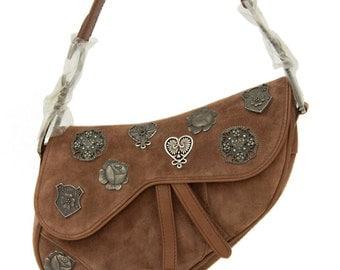 Christian Dior Brown Suede Limited Edition Handbag