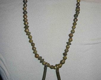 Vintage 1950's-60's African Brass Trade Bead Necklace w/Phallic Symbols