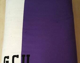 Soft, minky, custom Grand Canyon University blanket, black/white/purple, GCU, College Theme